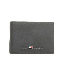 Cartera de piel Johnson CC Flap negro -11x3x7cm-
