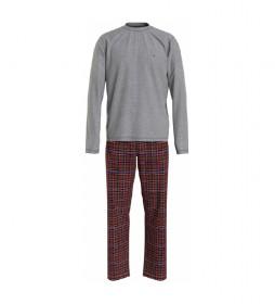 Pijama Flannel gris, granate