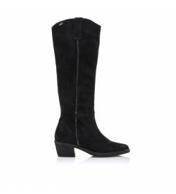 Botas de piel 50008 negro -Altura tacón: 5 cm-