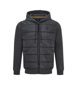 Sudadera Quilt Front gris