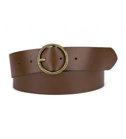 Cinturón de piel Athena marrón