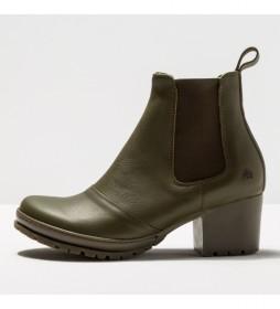 Botines de piel 1235  Camden kaki -Altura tacón 5,5cm-
