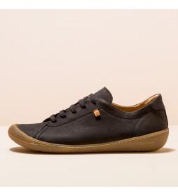 Zapatos de piel  N5770 Pawikan negro