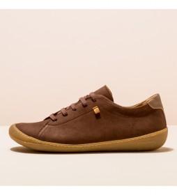 Zapatos de piel N5770 Pawikan marrón