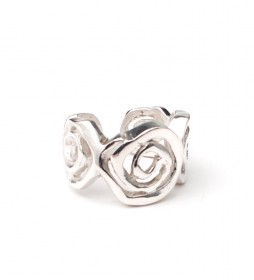 Anillo Rosas plata