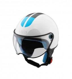 Lem Helmets LEM jet brillant casque blanc Go Fast