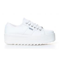 Zapatillas de lona blanco -Altura plataforma: 5cm-