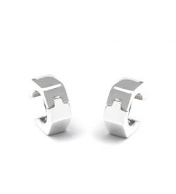 Pendientes Hexagonal plata