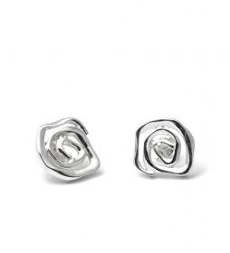 Pendientes Rose plata