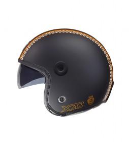 Nexx Helmets Casco jet X.70 Freedom negro mate, naranja mate