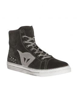 Dainese Zapatillas de bota en piel Street Biker Air negro, gris