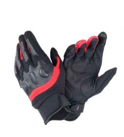 Dainese Guantes de piel Aier Frame Unisex negro, rojo