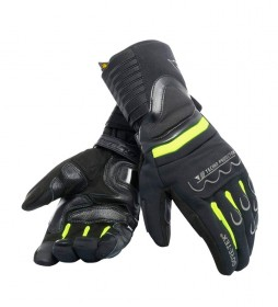 Dainese Scout leather gloves 2 Gore Tex black, fluorine yellow