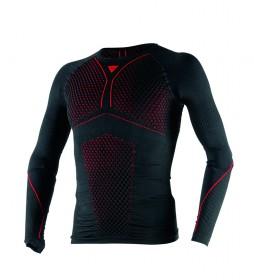 Dainese Camiseta técnica D-Core Thermo Tee LS negro, rojo