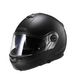 LS2 Helmets Casque modulaire solide Matt Black Strobe FF325
