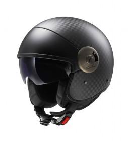 LS2 Helmets Casco Jet Cabrio OF597 Solid Carbon
