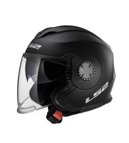 LS2 Helmets Helmet Jet Verso OF570 Solid Matt Black