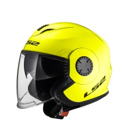 LS2 Helmets Casco Jet Verso OF570 Solid H-V Yellow