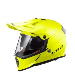 LS2 Helmets Casque de motocross Pioneer MX436 solide HV Tellow