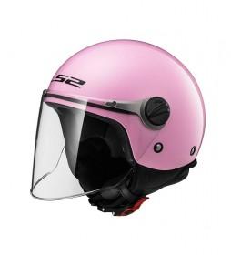 LS2 Helmets Wuby Jet Helmet OF575J Solid Pink