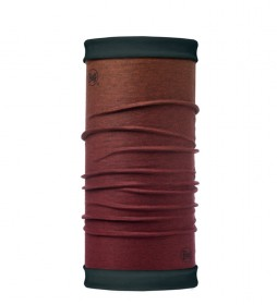 Buff Tubular reversible de polar Nod Wine burdeos, teja