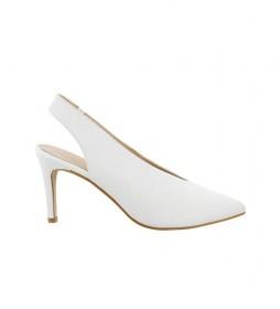 Zapatos de piel Cher 01 blanco -Altura tacón: 8,5cm-