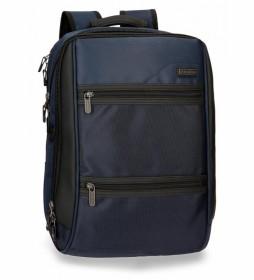 Mochila para portátil Roll Road Stock doble compartimento Azul -32x43x15cm-