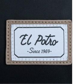 Bandolera El Potro Pipe Negra -23x17x10cm-