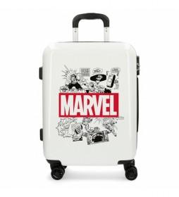 Maleta de cabina rígida Comic Marvel blanco -40x55x20cm-