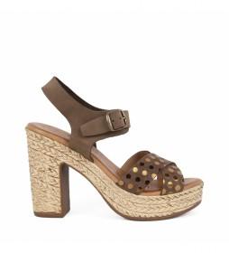 Sandalias de piel Bevel 01 marron -Atura del tacón: 11,5cm-