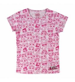 Camiseta Corta Single Jersey LOL rosa
