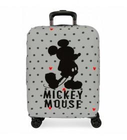 Funda para maleta de cabina Mickey gris -38x50x20cm-