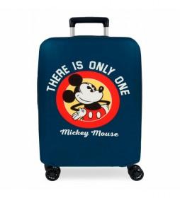 Funda para maleta de cabina Mickey azul -38x50x20cm-