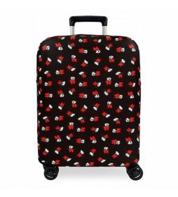 Funda para maleta de cabina Minnie negra -38x50x20cm-
