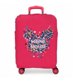 Funda para maleta de cabina Minnie fucsia -38x58x20cm-