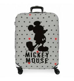Funda para maleta mediana Mickey gris -48x60x26cm-