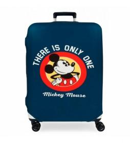Funda para maleta mediana Mickey azul -48x60x26cm-