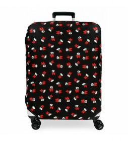 Funda para maleta mediana Minnie negra -48x60x26cm-