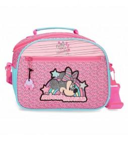 Neceser Minnie Pink Vibes adaptable con bandolera rosa -25x19x10cm-