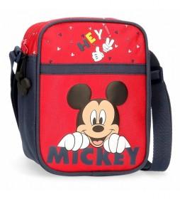 Bandolera Happy Mickey rojo -15x19x10cm-