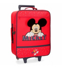 Maleta de cabina Happy Mickey rojo 35x50x18cm-