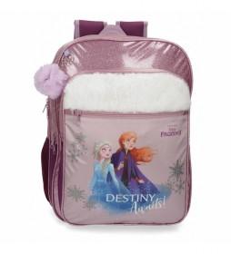 Mochila Escolar Frozen Destiny Awaits adaptable a carro -32x42x15cm-