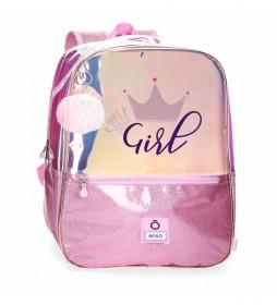 Mochila Escolar Enso Super girl con portaordenador -32x43x15cm-