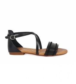 Sandalias de piel Amazona 08 negro