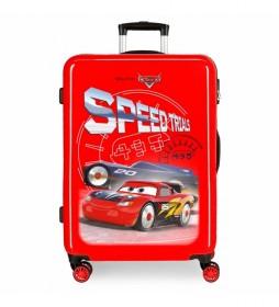 Maleta Mediana Cars Speed Trails rígida rojo -68x48x26cm-