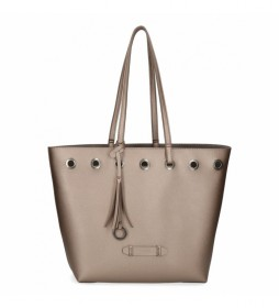 Bolso Shopper Pepe Jeans Angelica Bronce -31x30x11cm-