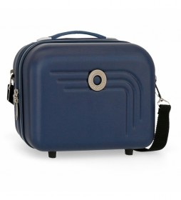 Neceser Movom Riga ABS Adaptable azul marino -29x21x15cm-