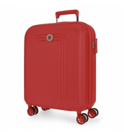 Maleta de cabina Movom Riga rígida 55cm rojo -40x55x20cm-
