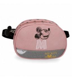 Riñonera Mickey The Blogger rosa -17x12x6cm-