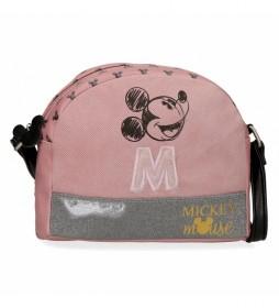 Bandolera Mickey The Blogger  rosa -20,5 x16,5x6cm-